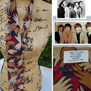 Vintage Beatles Silk Tie